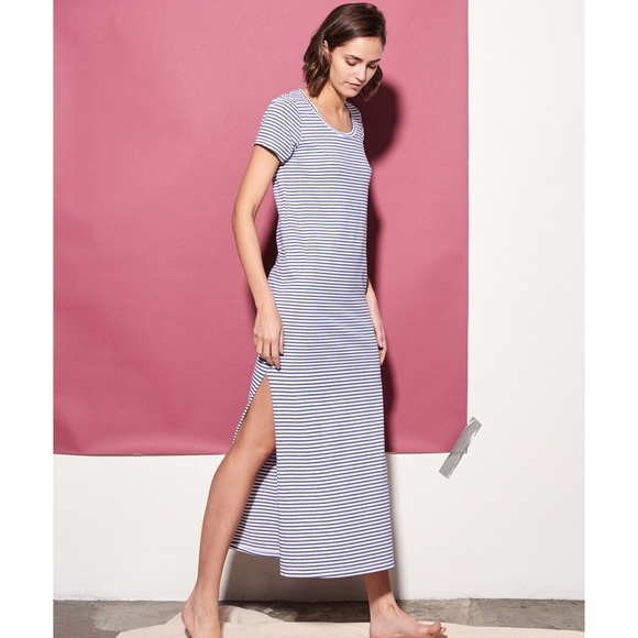 bdacc929821c51 Sundry Dresses | Nwt Pink Striped Maxi Dress With Side Slit | Poshmark